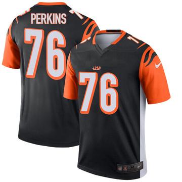 Youth Nike Cincinnati Bengals Kent Perkins Black Jersey - Legend