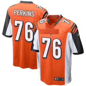 Youth Nike Cincinnati Bengals Kent Perkins Orange Jersey - Game