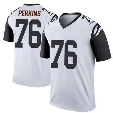 Youth Nike Cincinnati Bengals Kent Perkins White Color Rush Jersey - Legend