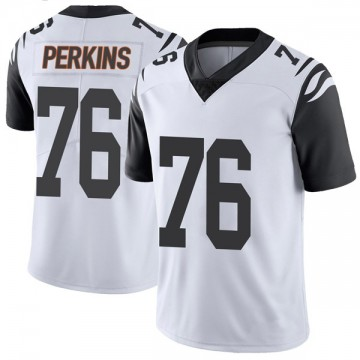 Youth Nike Cincinnati Bengals Kent Perkins White Color Rush Vapor Untouchable Jersey - Limited