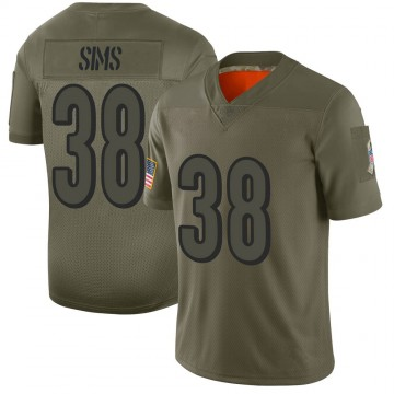 Youth Nike Cincinnati Bengals LeShaun Sims Camo 2019 Salute to Service Jersey - Limited