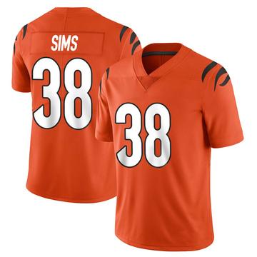 Youth Nike Cincinnati Bengals LeShaun Sims Orange Vapor Untouchable Jersey - Limited