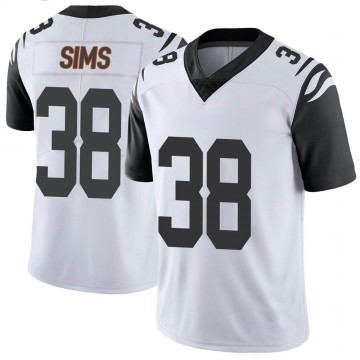 Youth Nike Cincinnati Bengals LeShaun Sims White Color Rush Vapor Untouchable Jersey - Limited