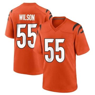 Youth Nike Cincinnati Bengals Logan Wilson Orange Jersey - Game