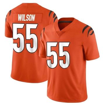 Youth Nike Cincinnati Bengals Logan Wilson Orange Vapor Untouchable Jersey - Limited