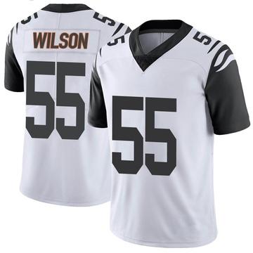 Youth Nike Cincinnati Bengals Logan Wilson White Color Rush Vapor Untouchable Jersey - Limited