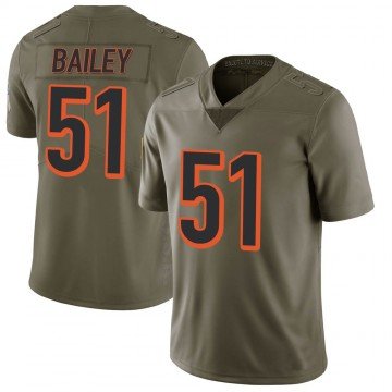 Youth Nike Cincinnati Bengals Markus Bailey Green 2017 Salute to Service Jersey - Limited