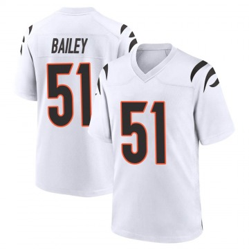 Youth Nike Cincinnati Bengals Markus Bailey White Jersey - Game