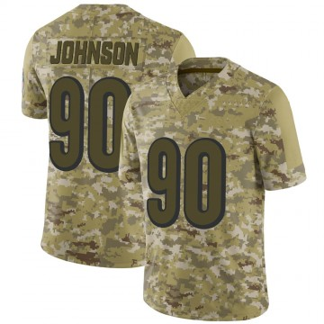 Youth Nike Cincinnati Bengals Michael Johnson Camo 2018 Salute to Service Jersey - Limited