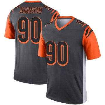 Youth Nike Cincinnati Bengals Michael Johnson Silver Jersey - Legend