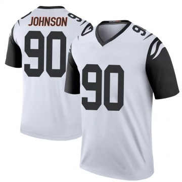 Youth Nike Cincinnati Bengals Michael Johnson White Color Rush Jersey - Legend