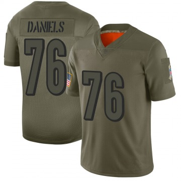 Youth Nike Cincinnati Bengals Mike Daniels Camo 2019 Salute to Service Jersey - Limited