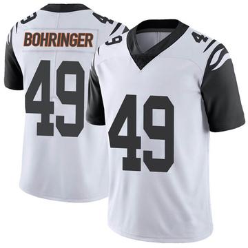 Youth Nike Cincinnati Bengals Moritz Bohringer White Color Rush Vapor Untouchable Jersey - Limited