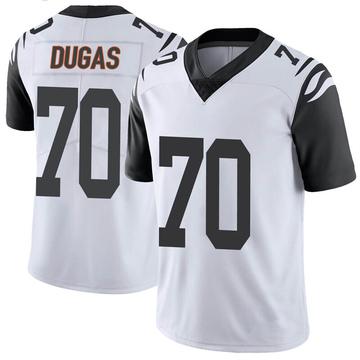 Youth Nike Cincinnati Bengals O'Shea Dugas White Color Rush Vapor Untouchable Jersey - Limited