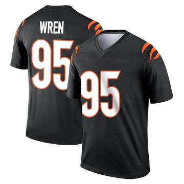 Youth Nike Cincinnati Bengals Renell Wren Black Jersey - Legend