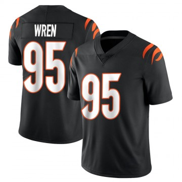 Youth Nike Cincinnati Bengals Renell Wren Black Team Color Vapor Untouchable Jersey - Limited