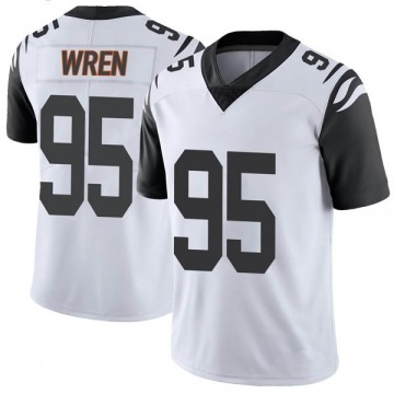 Youth Nike Cincinnati Bengals Renell Wren White Color Rush Vapor Untouchable Jersey - Limited