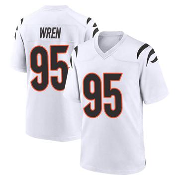 Youth Nike Cincinnati Bengals Renell Wren White Jersey - Game