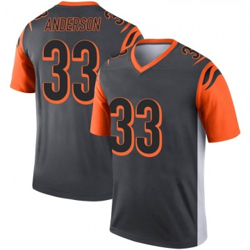 Youth Nike Cincinnati Bengals Rodney Anderson Inverted Silver Jersey - Legend