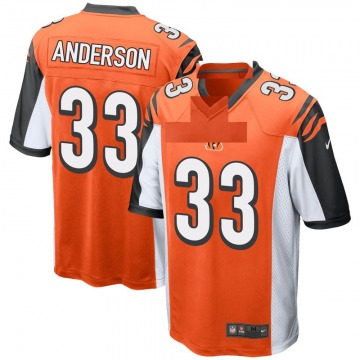 Youth Nike Cincinnati Bengals Rodney Anderson Orange Jersey - Game