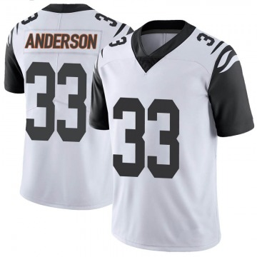 Youth Nike Cincinnati Bengals Rodney Anderson White Color Rush Vapor Untouchable Jersey - Limited