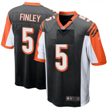 Youth Nike Cincinnati Bengals Ryan Finley Black Team Color Jersey - Game