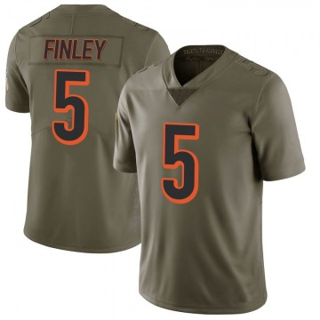 Youth Nike Cincinnati Bengals Ryan Finley Green 2017 Salute to Service Jersey - Limited