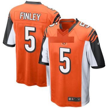 Youth Nike Cincinnati Bengals Ryan Finley Orange Jersey - Game