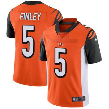 Youth Nike Cincinnati Bengals Ryan Finley Orange Vapor Untouchable Jersey - Limited