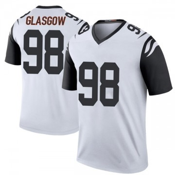Youth Nike Cincinnati Bengals Ryan Glasgow White Color Rush Jersey - Legend