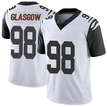 Youth Nike Cincinnati Bengals Ryan Glasgow White Color Rush Vapor Untouchable Jersey - Limited