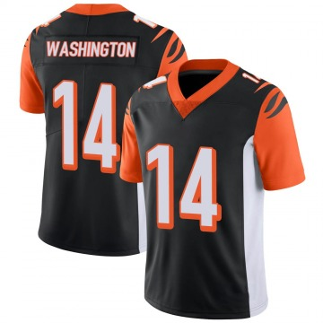 Youth Nike Cincinnati Bengals Scotty Washington Black 100th Vapor Jersey - Limited