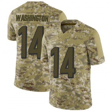 Youth Nike Cincinnati Bengals Scotty Washington Camo 2018 Salute to Service Jersey - Limited