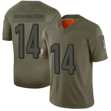 Youth Nike Cincinnati Bengals Scotty Washington Camo 2019 Salute to Service Jersey - Limited