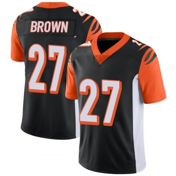 Youth Nike Cincinnati Bengals Tony Brown Black 100th Vapor Jersey - Limited