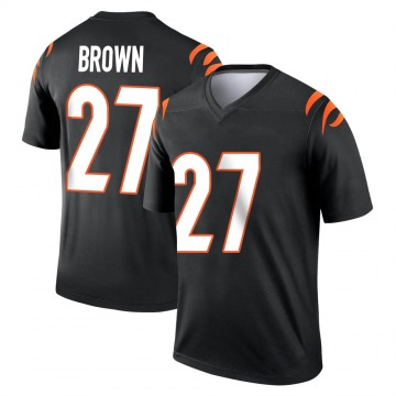 Youth Nike Cincinnati Bengals Tony Brown Black Jersey - Legend