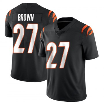 Youth Nike Cincinnati Bengals Tony Brown Black Team Color Vapor Untouchable Jersey - Limited