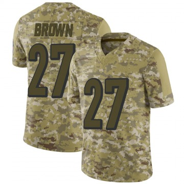 Youth Nike Cincinnati Bengals Tony Brown Brown Camo 2018 Salute to Service Jersey - Limited