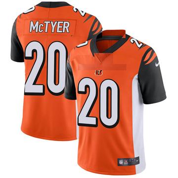 Youth Nike Cincinnati Bengals Torry McTyer Orange Vapor Untouchable Jersey - Limited