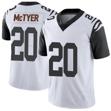 Youth Nike Cincinnati Bengals Torry McTyer White Color Rush Vapor Untouchable Jersey - Limited