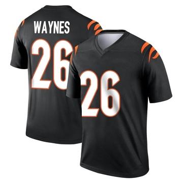 Youth Nike Cincinnati Bengals Trae Waynes Black Jersey - Legend
