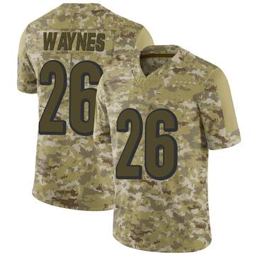 Youth Nike Cincinnati Bengals Trae Waynes Camo 2018 Salute to Service Jersey - Limited