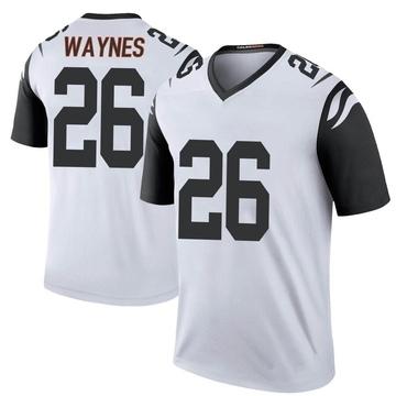 Youth Nike Cincinnati Bengals Trae Waynes White Color Rush Jersey - Legend