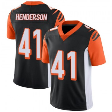 Youth Nike Cincinnati Bengals Trayvon Henderson Black 100th Vapor Jersey - Limited