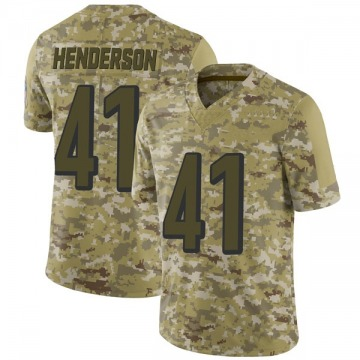 Youth Nike Cincinnati Bengals Trayvon Henderson Camo 2018 Salute to Service Jersey - Limited
