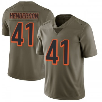 Youth Nike Cincinnati Bengals Trayvon Henderson Green 2017 Salute to Service Jersey - Limited