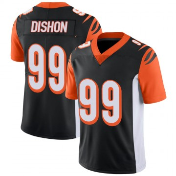 Youth Nike Cincinnati Bengals Trey Dishon Black 100th Vapor Jersey - Limited
