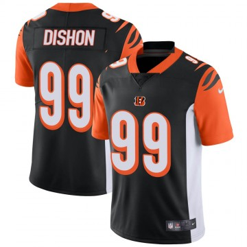 Youth Nike Cincinnati Bengals Trey Dishon Black Team Color Vapor Untouchable Jersey - Limited