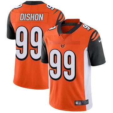 Youth Nike Cincinnati Bengals Trey Dishon Orange Vapor Untouchable Jersey - Limited
