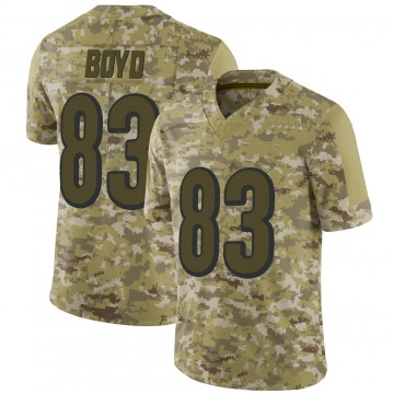 Youth Nike Cincinnati Bengals Tyler Boyd Camo 2018 Salute to Service Jersey - Limited